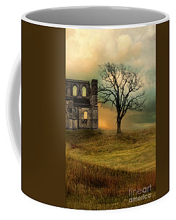 Church Ruin With Stormy Skies Coffee Mug by Jill Battaglia
