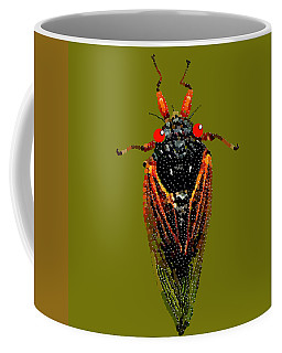Cicada In Green Coffee Mug