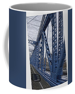 Coffee Mug featuring the photograph Cincinnati Bridge by Daniel Sheldon