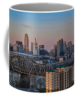 D9u-876 Cincinnati Ohio Skyline Photo Coffee Mug