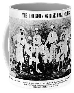 Cincinnati Red Stocking Baseball Team Coffee Mug