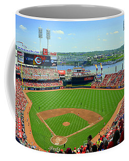Cincinnati Reds Stadium Coffee Mug by Kathy Barney