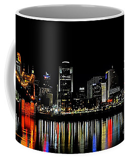 Coffee Mug featuring the photograph Cincinnati Skyline Dreams 3 by Mel Steinhauer