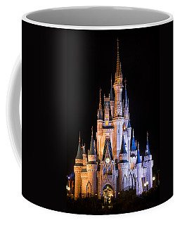 Cinderella's Castle In Magic Kingdom Coffee Mug by Adam Romanowicz