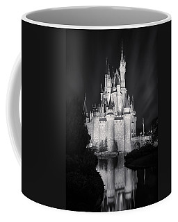 Cinderella's Castle Reflection Black And White Coffee Mug