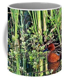 Cinnamon Teal And Dragonfly Coffee Mug