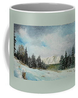 Coffee Mug featuring the painting Cioplea by Sorin Apostolescu