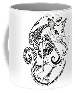 Circle Cat Coffee Mug by Melinda Dare Benfield