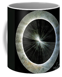 Coffee Mug featuring the drawing Circles Do Not Exist 720 The Shape Of Pi by Jason Padgett