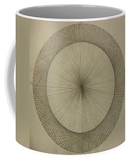 Coffee Mug featuring the drawing Circles Don't Exist Two Degree Frequency by Jason Padgett