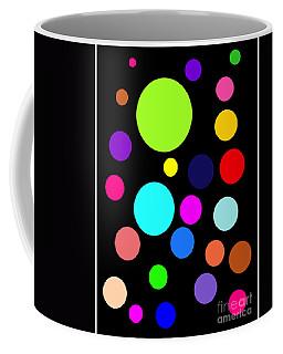 Circles On Black Coffee Mug
