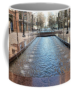 Coffee Mug featuring the photograph City Creek Fountain - 1 by Ely Arsha