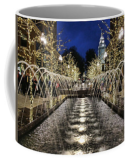 Coffee Mug featuring the photograph City Creek Fountain - 2 by Ely Arsha
