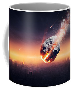 City Destroyed By Meteor Shower Coffee Mug