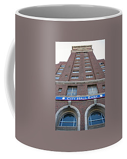Coffee Mug featuring the photograph City Hall East Facade by Cleaster Cotton