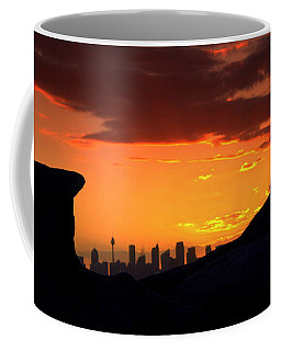 Coffee Mug featuring the photograph City In A Palm Of Rock by Miroslava Jurcik