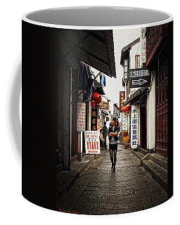 Coffee Mug featuring the photograph City Life In Ancient China by Lucinda Walter