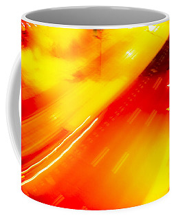 Coffee Mug featuring the photograph City Lights 1 by Mez