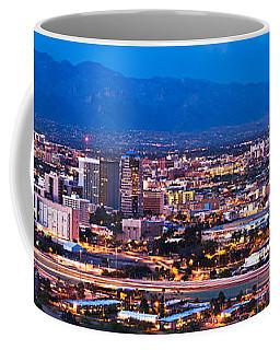 City Lit Up At Dusk, Tucson, Pima Coffee Mug