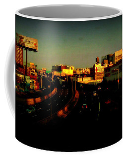 City Of Gold - New York City Sunset With Water Towers Coffee Mug by Miriam Danar