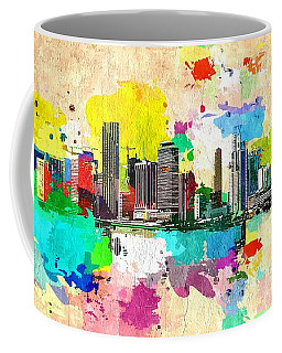 City Of Miami Grunge Coffee Mug
