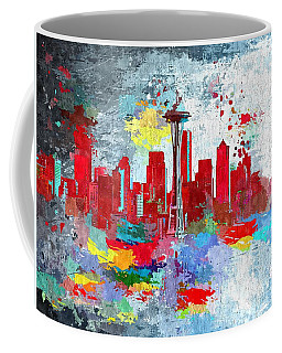 City Of Seattle Grunge Coffee Mug
