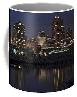 Coffee Mug featuring the photograph City Reflection by Deborah Klubertanz