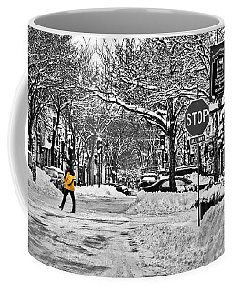 City Snowstorm Coffee Mug