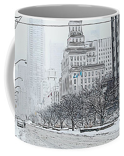City In Winter Coffee Mug by Yvonne Wright