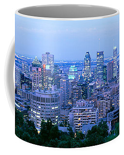 Cityscape At Dusk, Montreal, Quebec Coffee Mug