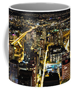 Coffee Mug featuring the photograph Cityscape Golden Burrard Bridge Mdlxiv by Amyn Nasser
