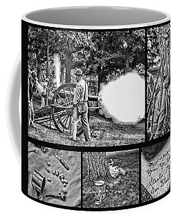 Coffee Mug featuring the photograph Civil War Collage by Geraldine DeBoer