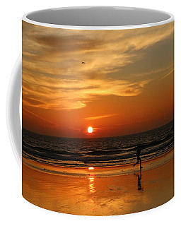 Clam Digging At Sunset - 3 Coffee Mug