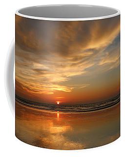 Clam Digging At Sunset - 4 Coffee Mug