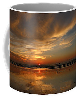 Clam Digging At Sunset -1  Coffee Mug
