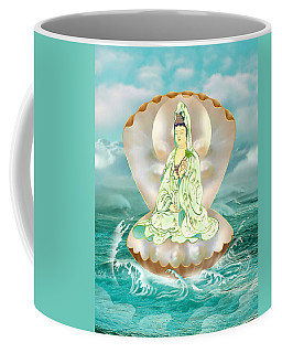 Clam-sitting Kuan Yin Coffee Mug by Lanjee Chee