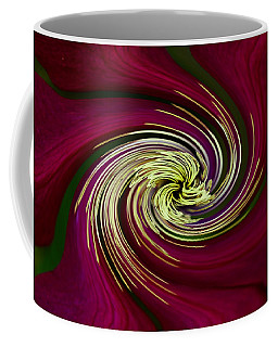 Coffee Mug featuring the photograph Claret Red Swirl Clematis by Debbie Oppermann