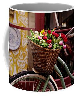 Classic Bike With Tulips Coffee Mug