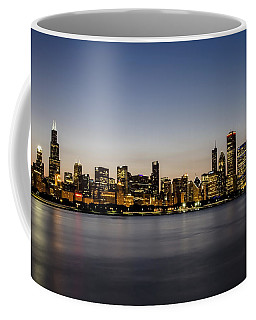 Classic Chicago Skyline At Dusk Coffee Mug