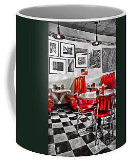 Classic Diner Coffee Mug by Delphimages Photo Creations