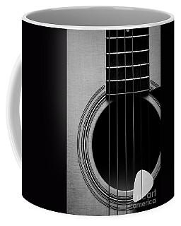 Classic Guitar In Black And White Coffee Mug