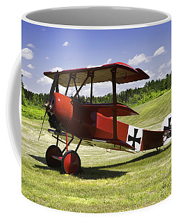 Classic Red Barron Fokker Dr.1 Triplane Photo Coffee Mug by Keith Webber Jr