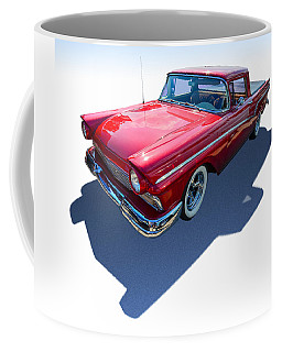 Coffee Mug featuring the photograph Classic Red Truck by Gianfranco Weiss