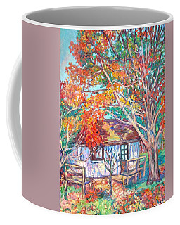 Claytor Lake Cabin In Fall Coffee Mug by Kendall Kessler