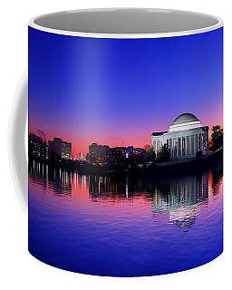 Clear Blue Morning At The Jefferson Memorial Coffee Mug