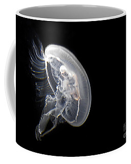Clear Jelly Fish In Dark Water Art Prints Coffee Mug by Valerie Garner