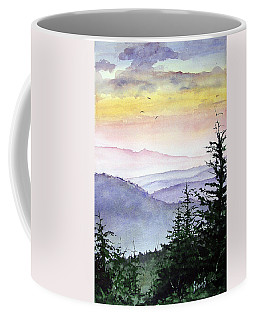 Coffee Mug featuring the painting Clear Mountain Morning II by Sam Sidders