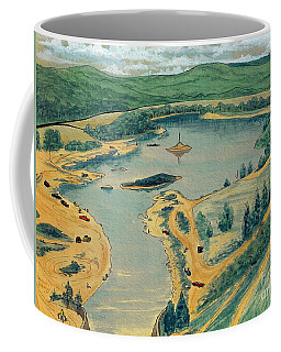 Coffee Mug featuring the painting Clearwater Lake Early Days by Kip DeVore