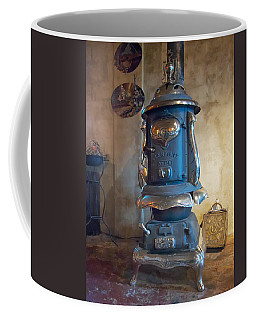Coffee Mug featuring the photograph Clermont No 136 Pot Belly Stove by Mary Lee Dereske