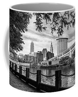Cleveland River Cityscape Coffee Mug by Dale Kincaid
